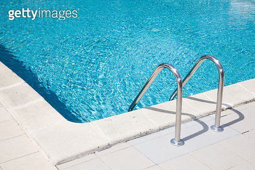 Summer detail corner swimming pool ladder