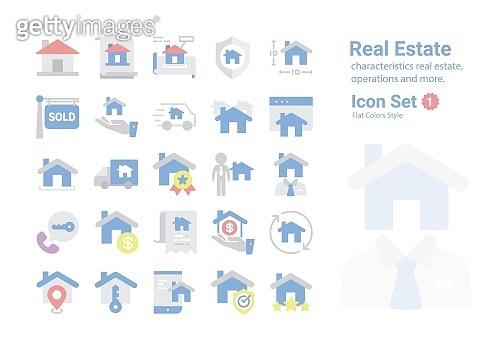 Real Estate vector icon collection