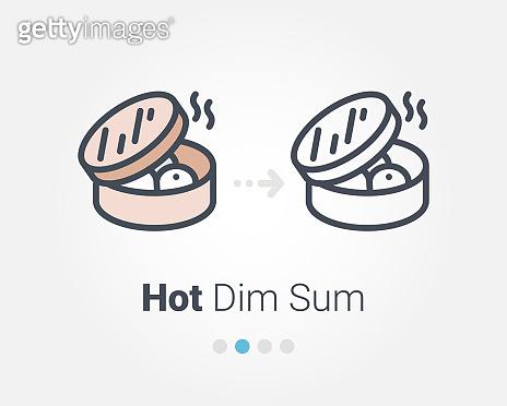 hot dim sum vector icon