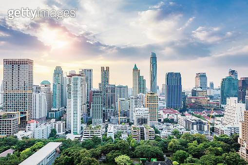 Bangkok Cityscape at Day Skyline Thailand