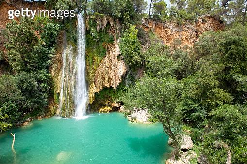 Beautiful waterfall. Provence, France