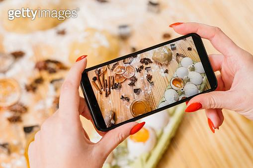 pastry cooking vlog smartphone biscuit ingredients