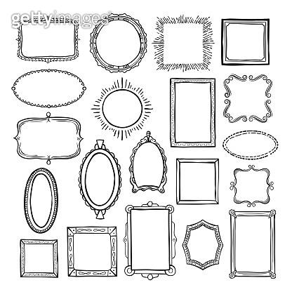 Picture frame sketch set, photograph album decor