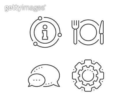 Restaurant food line icon. Dinner sign. Hotel service. Vector
