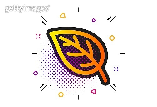 Leaf icon. Nature plant sign. Vector