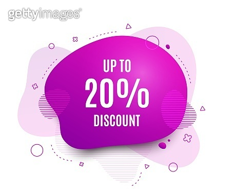 Up to 20% Discount. Sale offer price sign. Vector