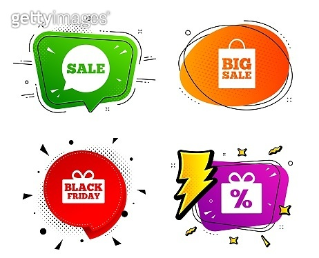 Sale speech bubble icon. Black friday symbol. Vector
