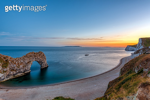 The natural arch Durdle Door at the Jurassic Coast