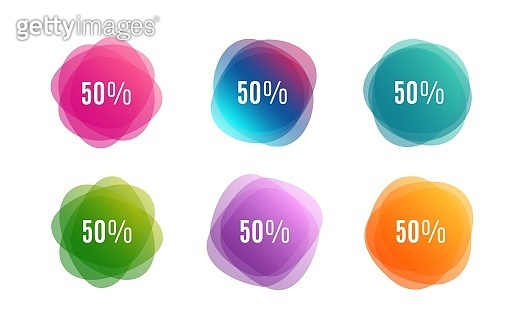 50% off Sale. Discount offer price sign. Vector