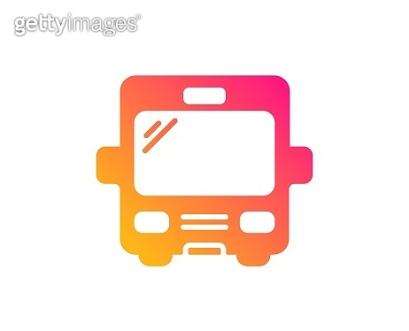 Bus transport icon. Transportation vehicle sign. Vector