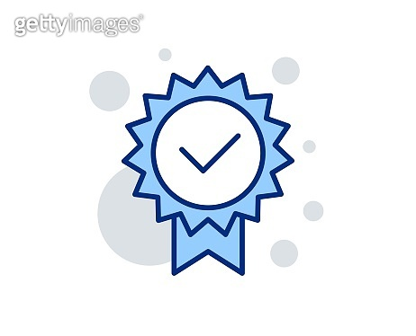 Certificate line icon. Verified award sign. Vector