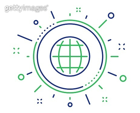 Globe line icon. World or Earth sign. Vector
