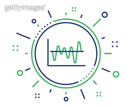 Investment chart line icon. Finance graph. Vector