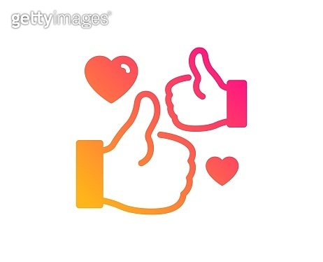 Like icon. Thumbs up sign. Vector