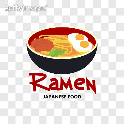 ramen japanese food icon isolated on transparent background
