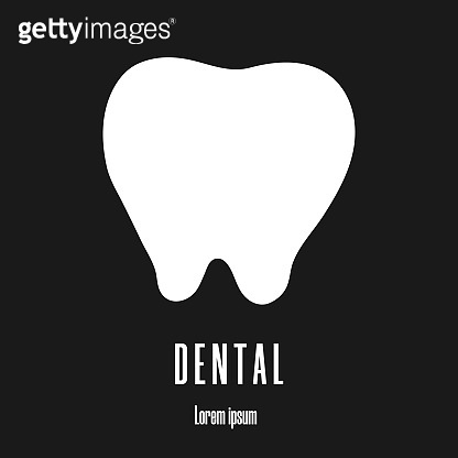 Dental clinic logo. Tooth icon. Clean and modern vector illustration for design, web.