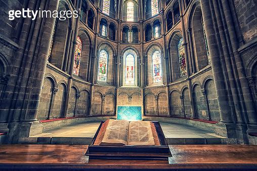 Inside the cathedral of Geneva, Switzerland
