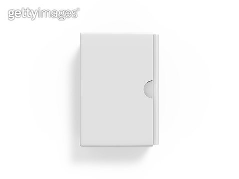 Blank boxed book set mock up template on isolated white background, ready for your design presentation, 3d illustration