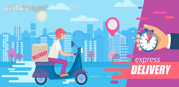 Fast and free delivery in short time on scooters.