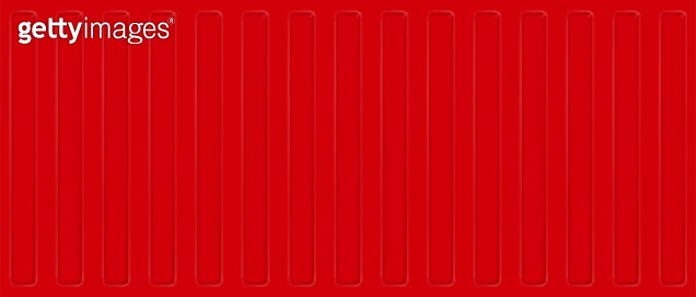 Seamless profile sheet wall. Red cargo shipping container. Vector background.