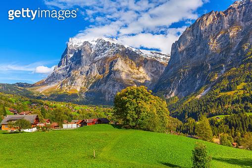 Grindelwald, Switzerland village and mountains view