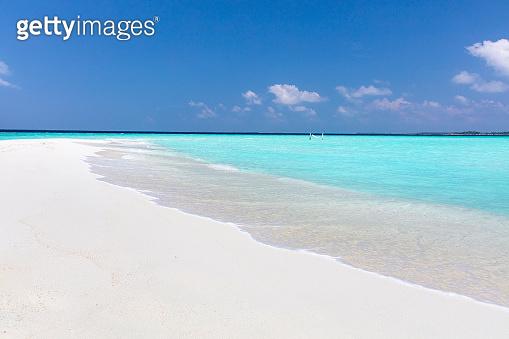 Hammock on amazing white sandbar