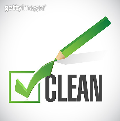 Clean check mark illustration design