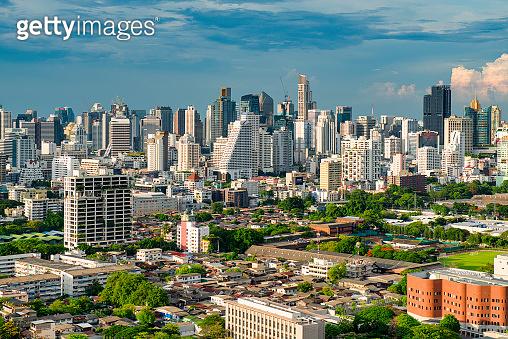 Bangkok Twilight Modern Skyscrapers Cityscape Thailand