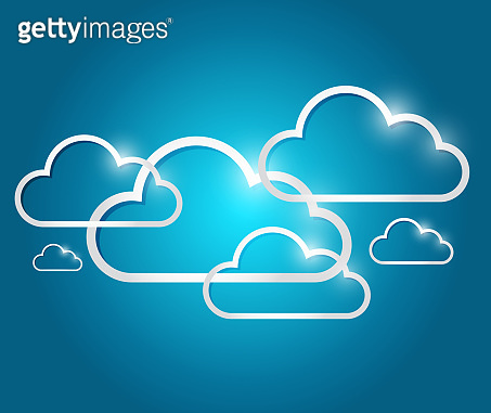 Border clouds illustration design