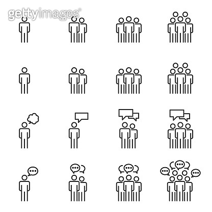 People Icons , Person work group Team Talking Vector