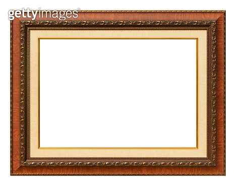 Antique frame isolated on the white background vintage style