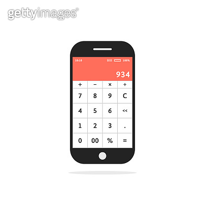 calculator mobile app in smart phone