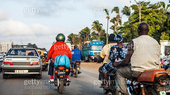African town traffic - Cotonou, Benin