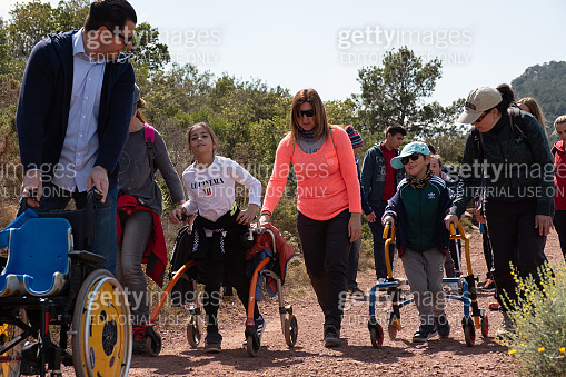 Sport activity with cerebral palsy children.