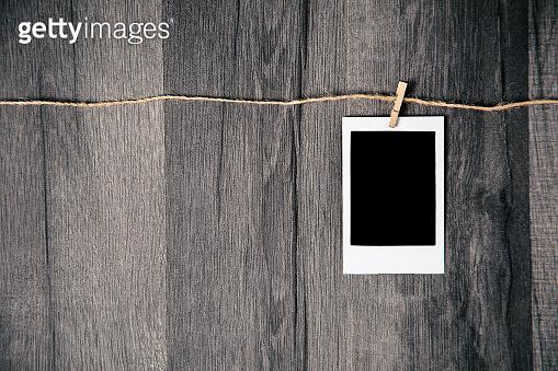 Isolated blank photographs