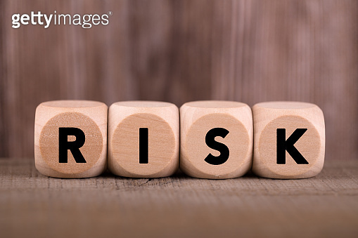 Risk Concept Wooden Cube Blocks