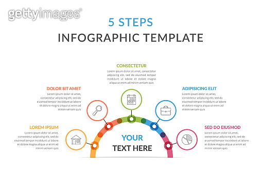 Infographic Template with Five Elements