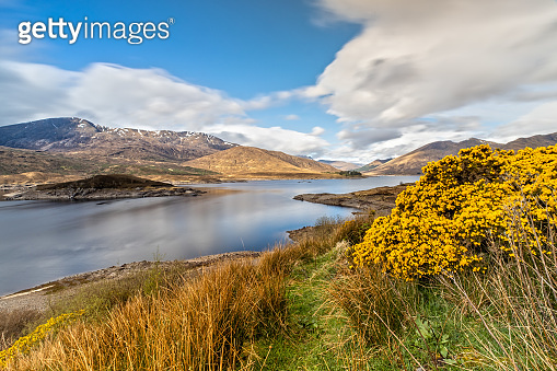 Panoramic View over the Loch Lochy in the Scottish Highlands