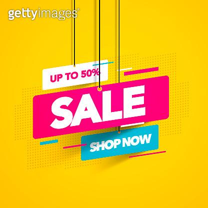 Vector illustration sale banner template design, Big sale special offer.
