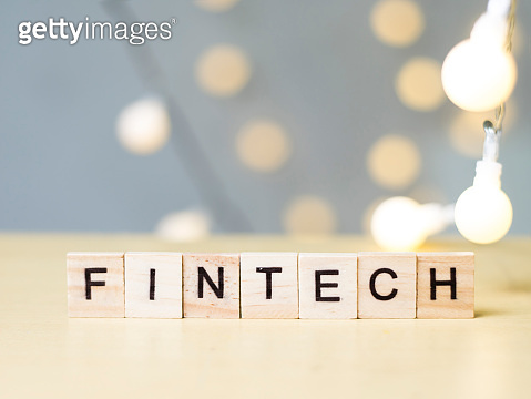 Finance Technology Fintech, Business Words Quotes Concept
