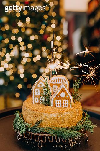 cake dessert festive christmas honey house figure