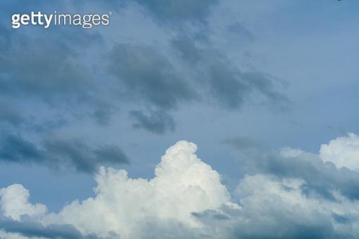Dark storm clouds before rain. Nature background