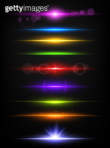 Shiny neon lines. Borders with glow effect abstract flash light vector realistic template isolated