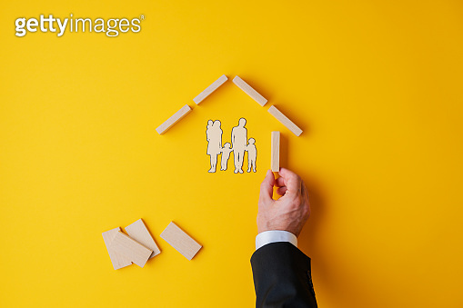 Real estate and insurance concept