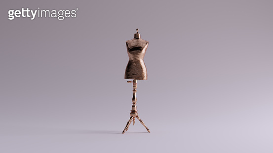 Bronze Judy Dressmakers Dress Form  Mannequin Front View