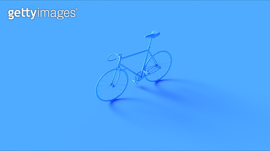 Blue Fixed Gear Racing Bike