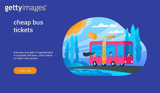 cheap bus tickets concept 02