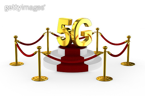5g network on white background. Isolated 3D illustration