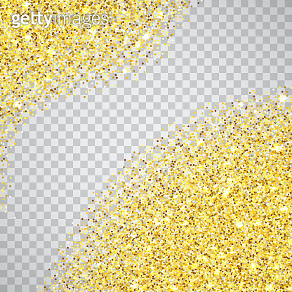 Gold glitter textured border