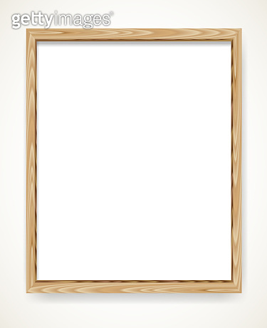 Wood blank frame illustration
